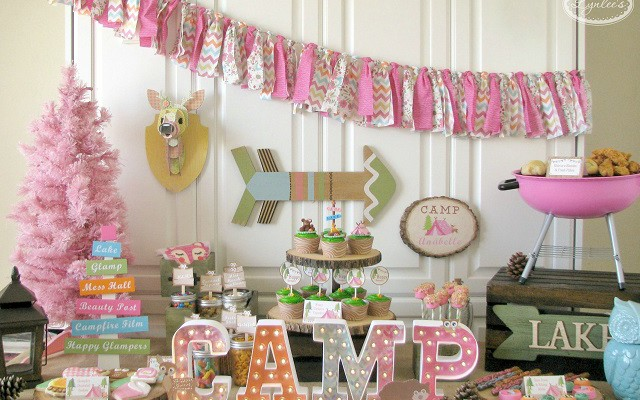 Glamping Sleepover Party Ideas