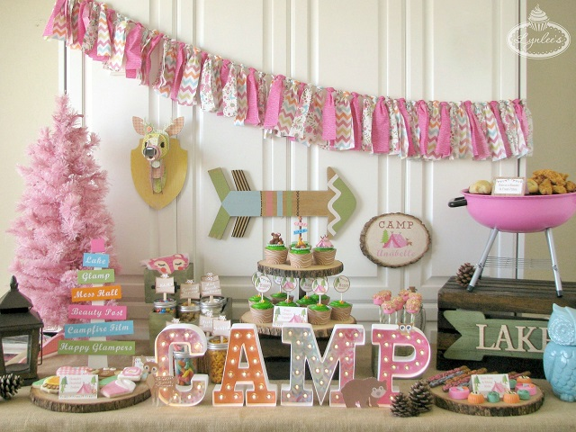 Glamping Sleepover Party Ideas ~ Lynlee's