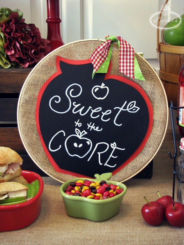 2-Sweet to the Core embroidery hoop sign