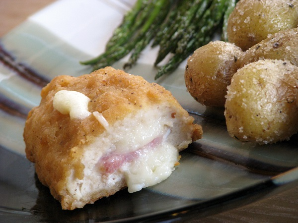 Chicken Cordon Bleu with Mini Roasted Potatoes & Roasted Asparagus