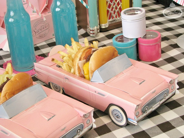 Burgers & Fries served 50's Chevy food box ~ Lynlee's