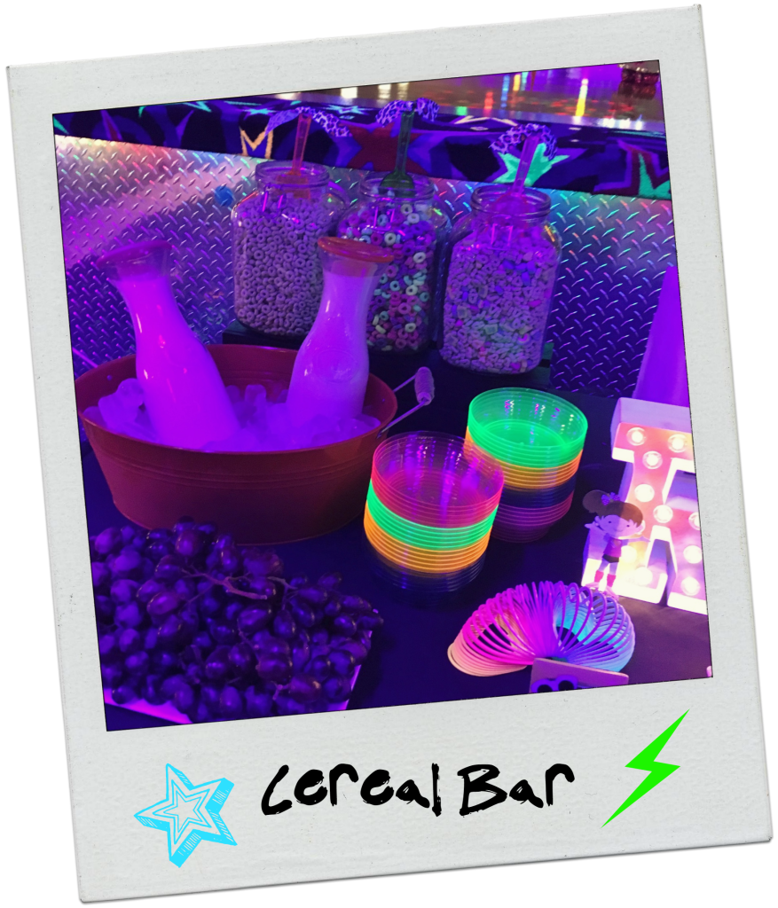 neon-80s-rollerskating-party-cereal-bar