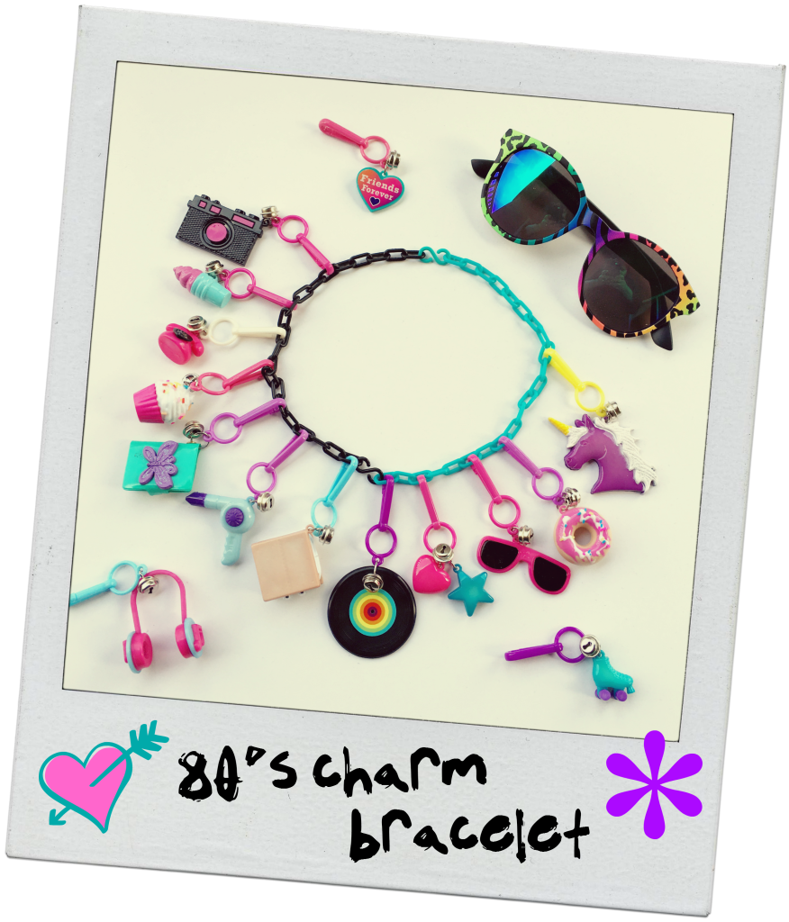 neon-80s-rollerskating-party-charm-bracelet