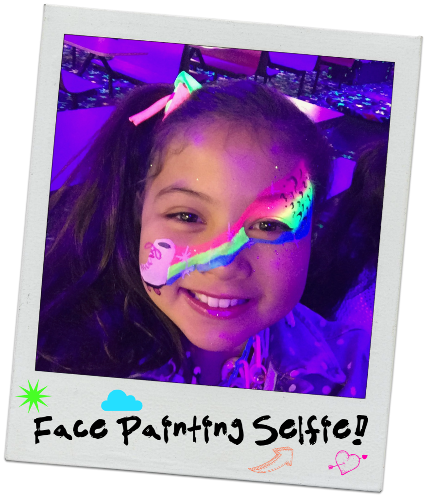 neon-80s-rollerskating-party-face-painting-selfie