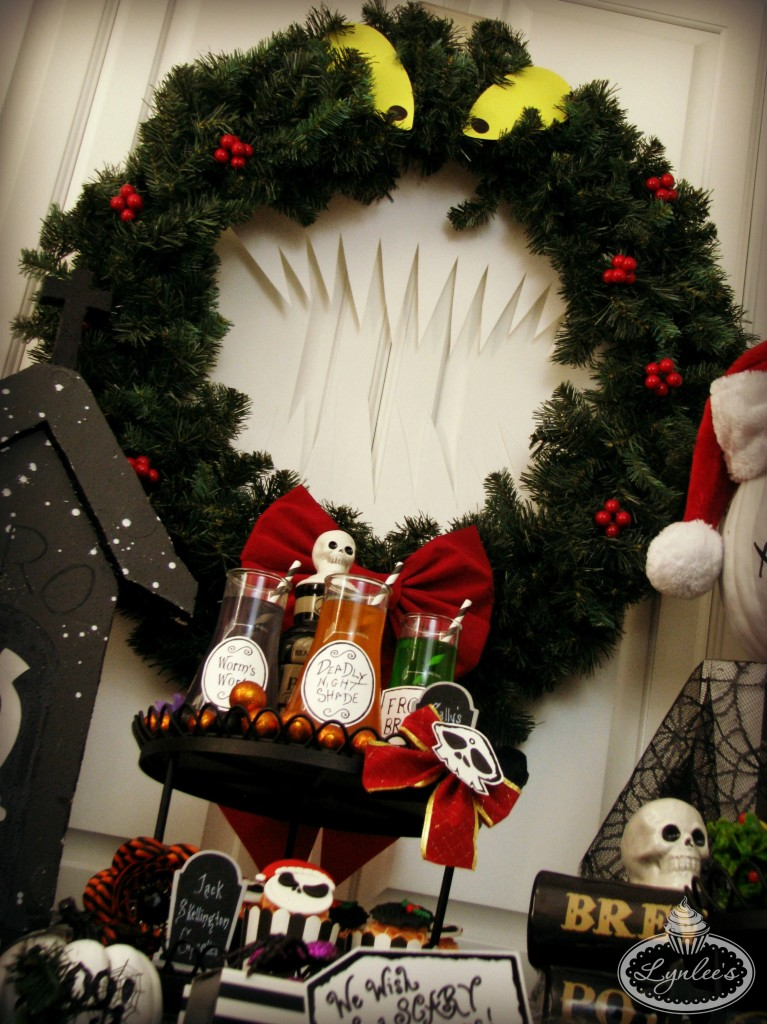 Nightmare Before Christmas party wreath