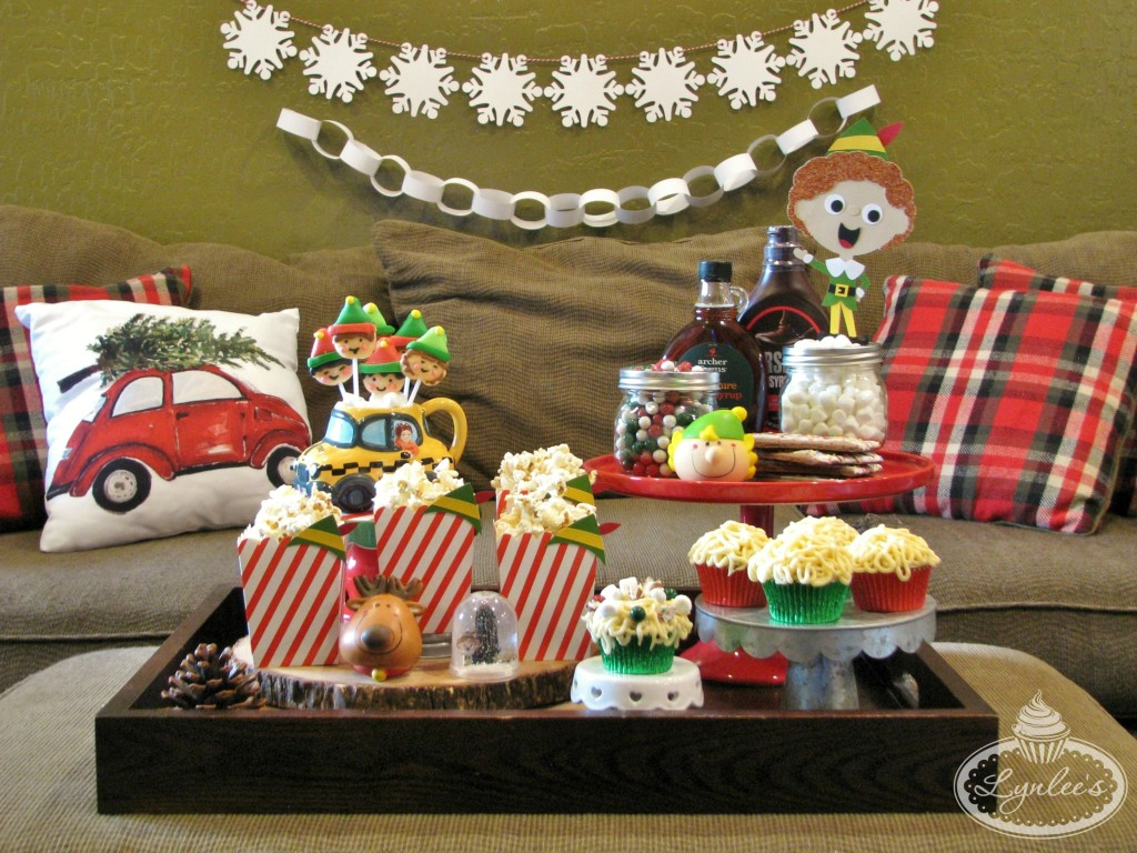 elf-movie-watching-party-food-table