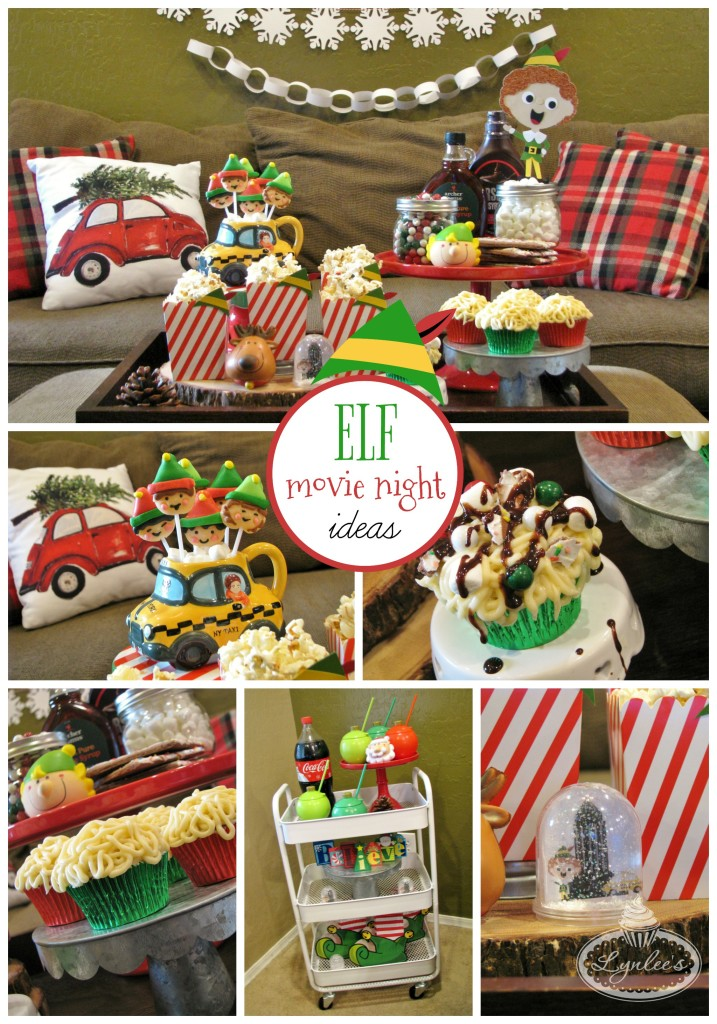 Elf movie family watch party ideas