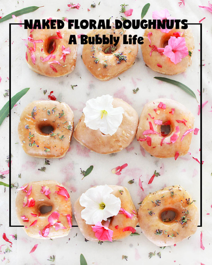Naked Floral Doughnuts